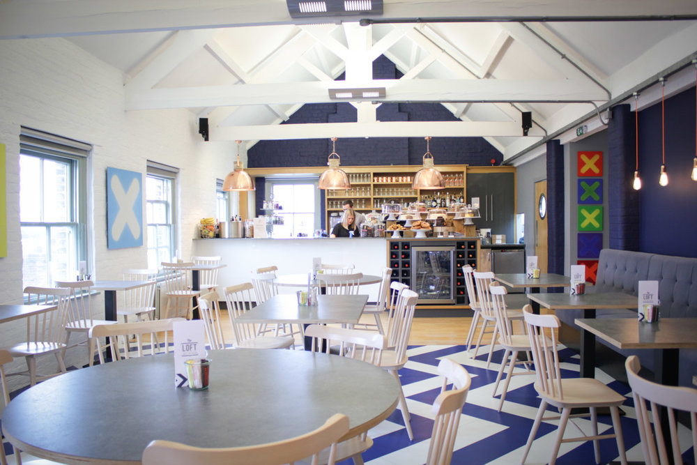 The light and airy space - enjoy spectacular views over delicious coffee and food!