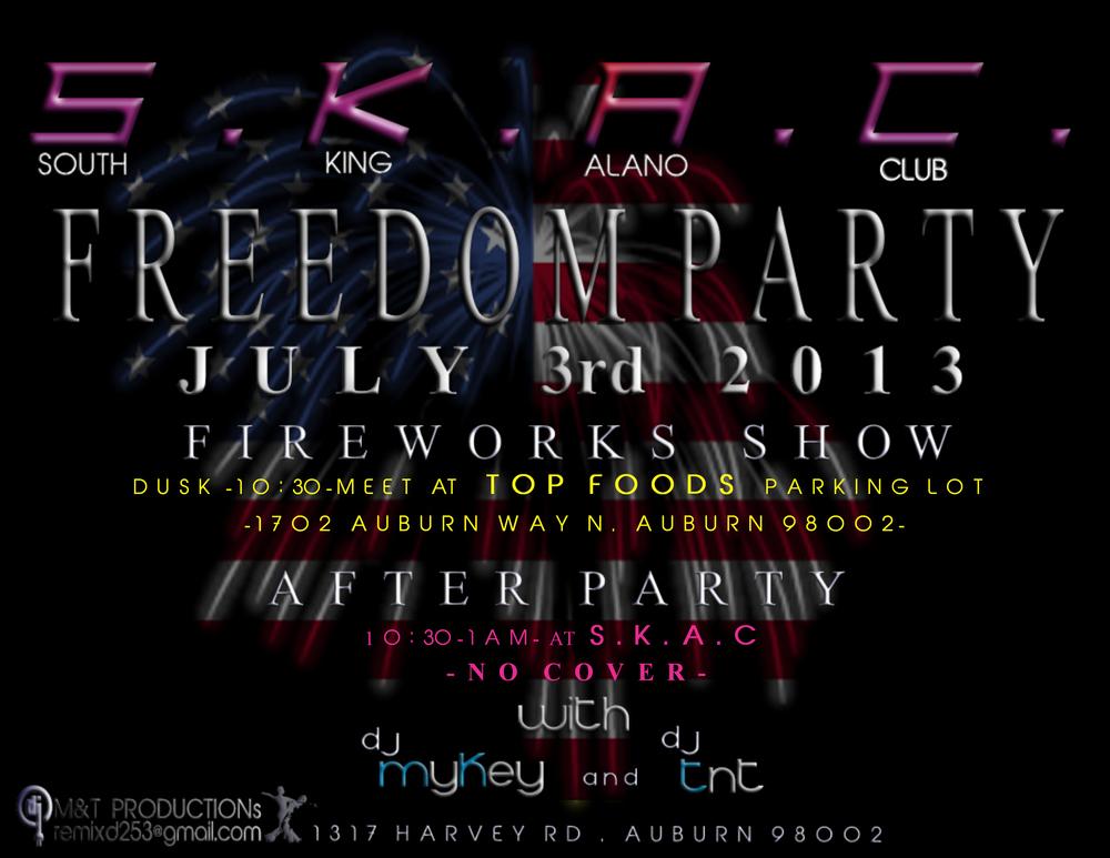 SKAC Freedom Party 2013