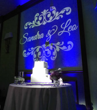 Custom Monogram & Cake Lighting