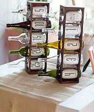 Have guests write letters to you and put them in the bottles which will correspond to an anniversary year. The two of you get to look forward to opening them on each anniversary!