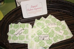Guest can write a note to you on a pre-made quilt or quilt squares and you can put it together after the wedding! Something to snuggle up with in your living room for years to come!
