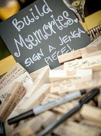 This one is for my brides who love to play games! And not games with guys...board games of course!! Guests write letters on Jenga logs and you can read the letter as you play with your new husband!