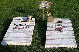 And for all of those rustic weddings, these games are so much fun and the kids can play too!!