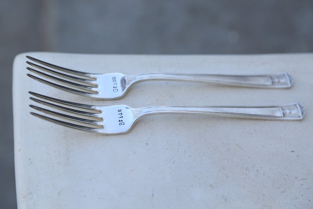 Engraved Mr and Mrs Forks