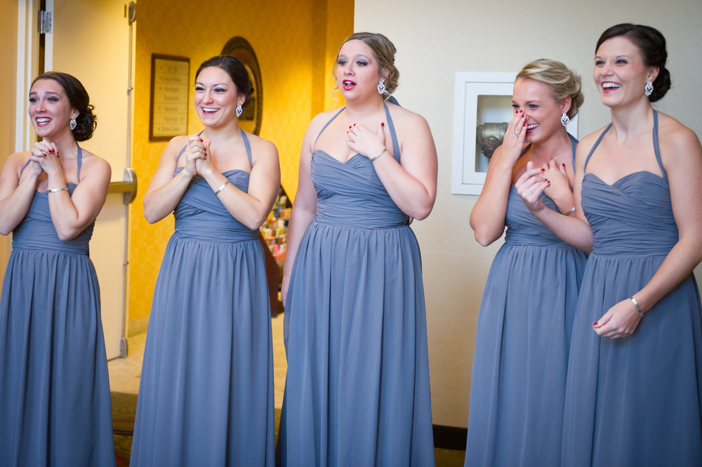 bridesmaid first look