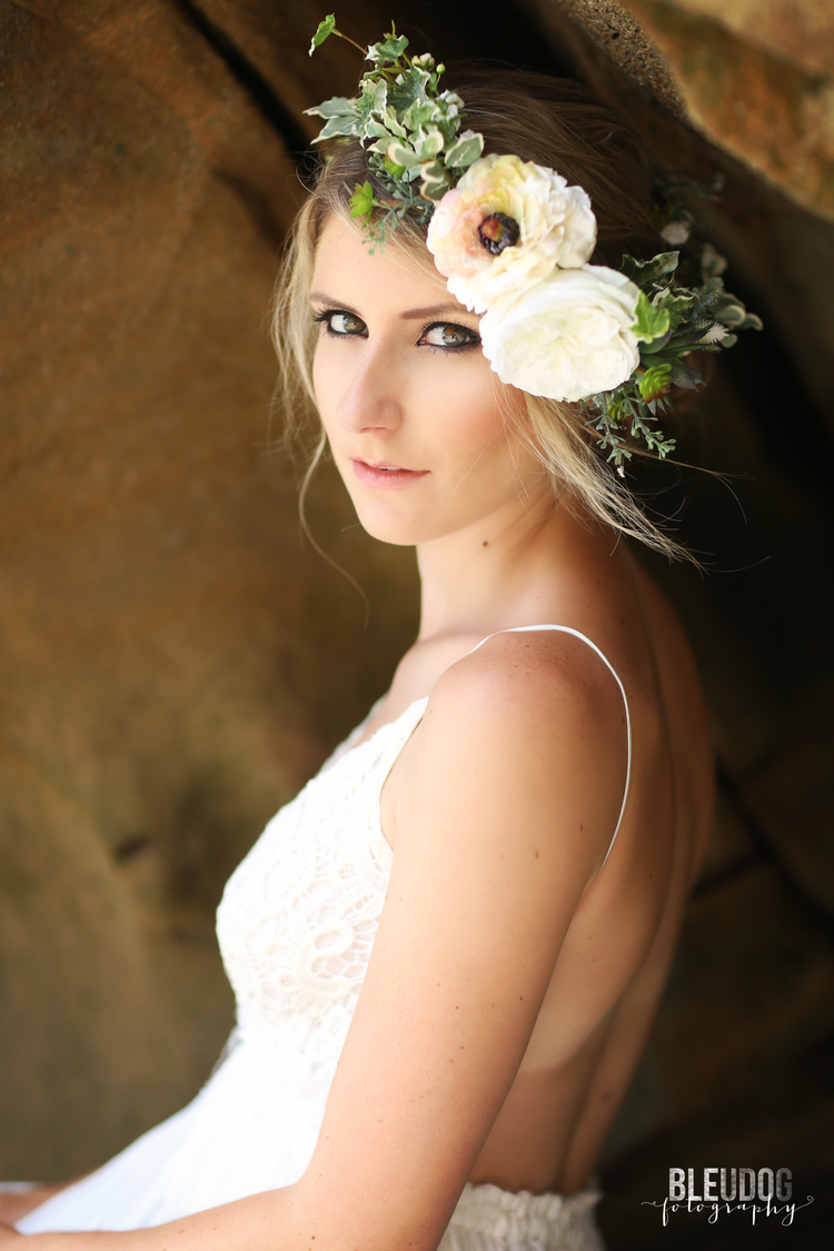 9 unique flower crown styles the overwhelmed bride wedding blog bleudog fotography hair and makeup swell beauty izmirmasajfo Choice Image