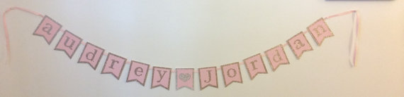 custom bridal shower wedding banner