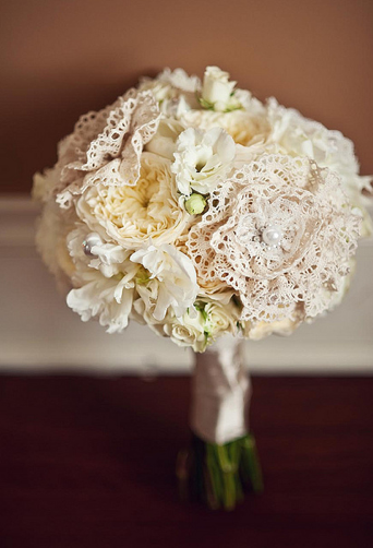 lace wedding bouquet