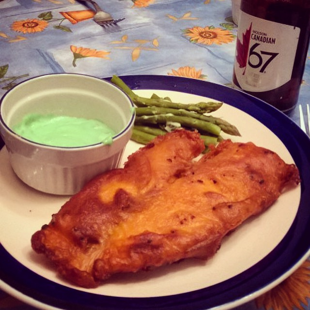 beer battered fish - healthy recipe