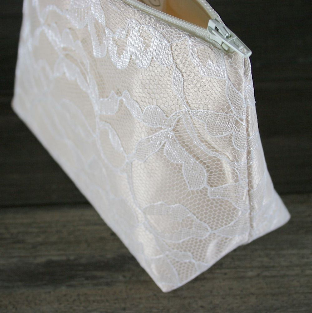 Champaign Satin & Ivory Lace Bridesmaid Gift - Le Pique Nique by Jordani Sarreal 03.jpg
