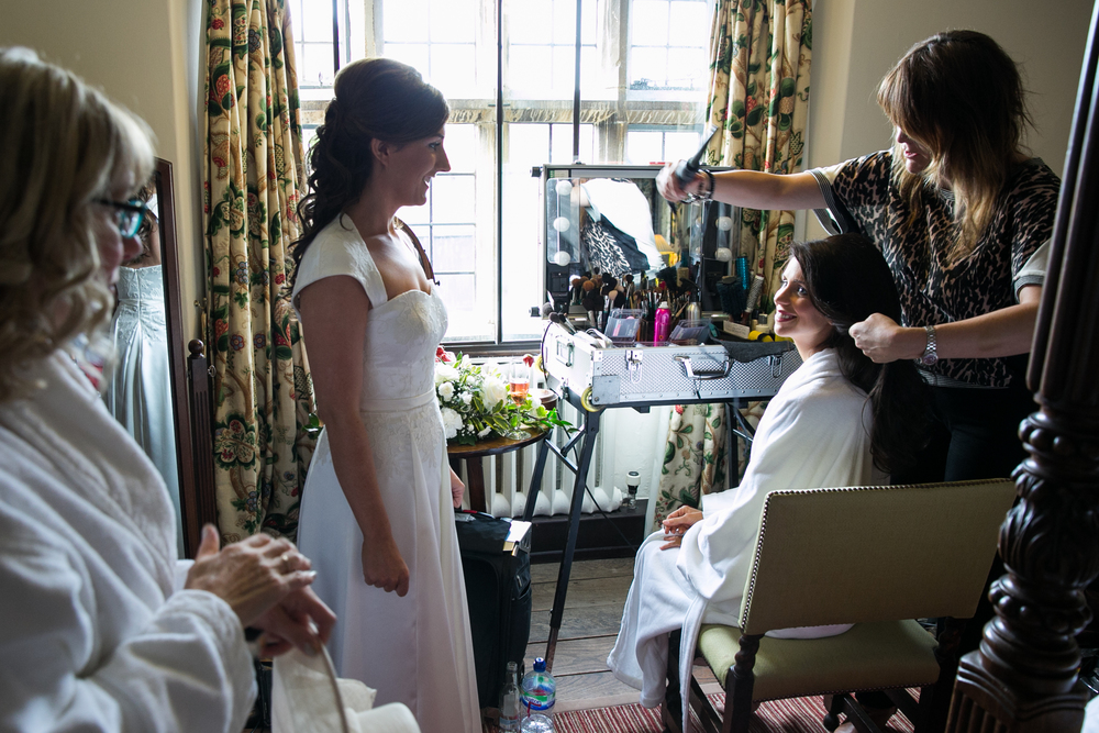 Worcestet, England bridal hair and makeup