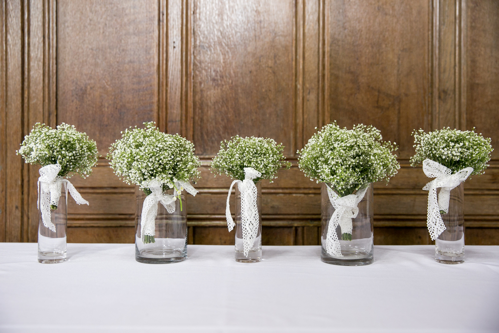 babys breath bridesmaid bouquets