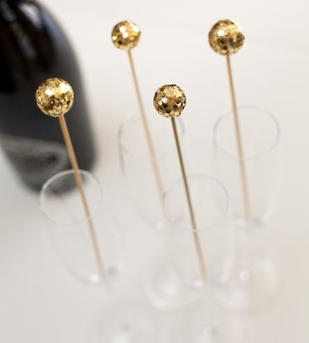 glitter drink stirrers bridal shower