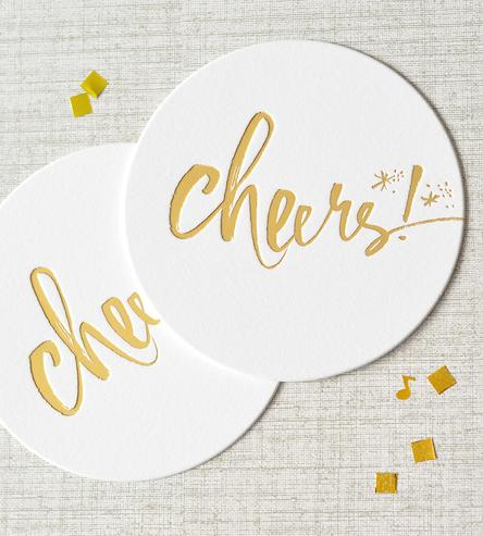 cheers bridal shower coasters