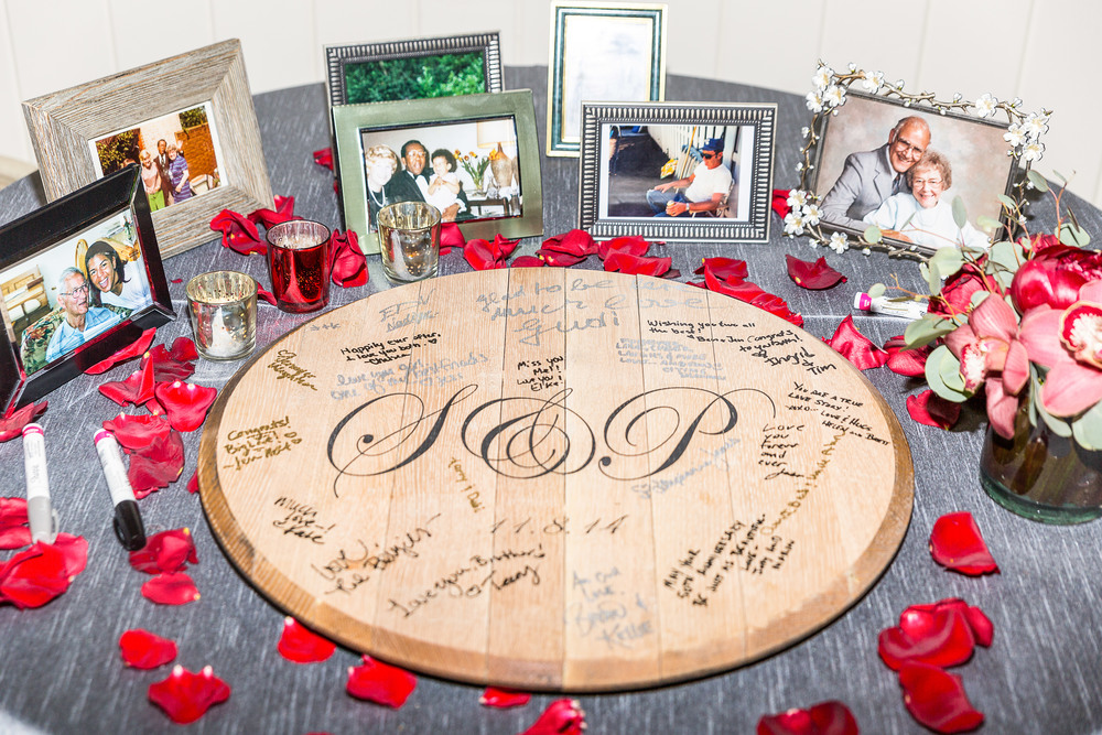 wine barrell guest book