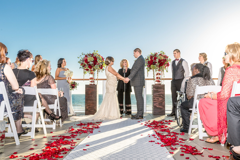 malibu west beach club wedding ceremony