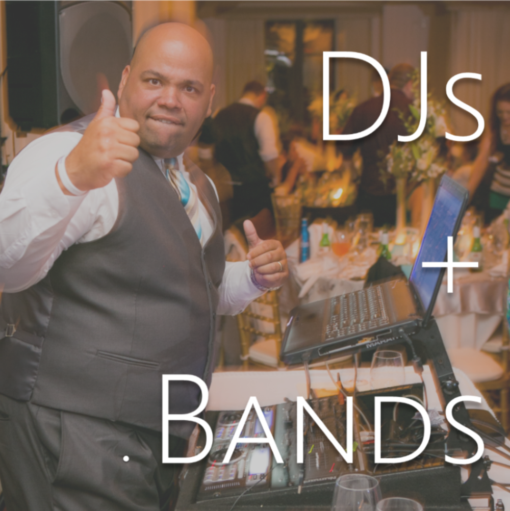 wedding djs and wedding bands // the overwhelmed bride wedding blog