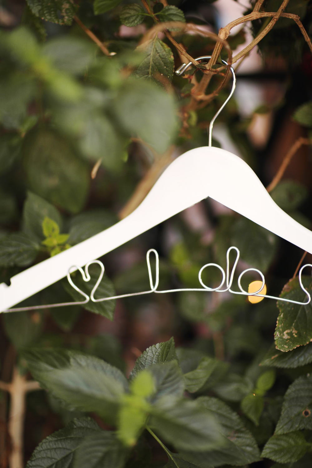 personalized hanger by black label decor