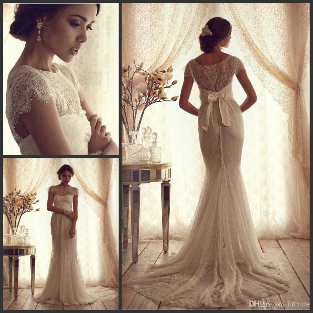 gold vintage wedding dresses
