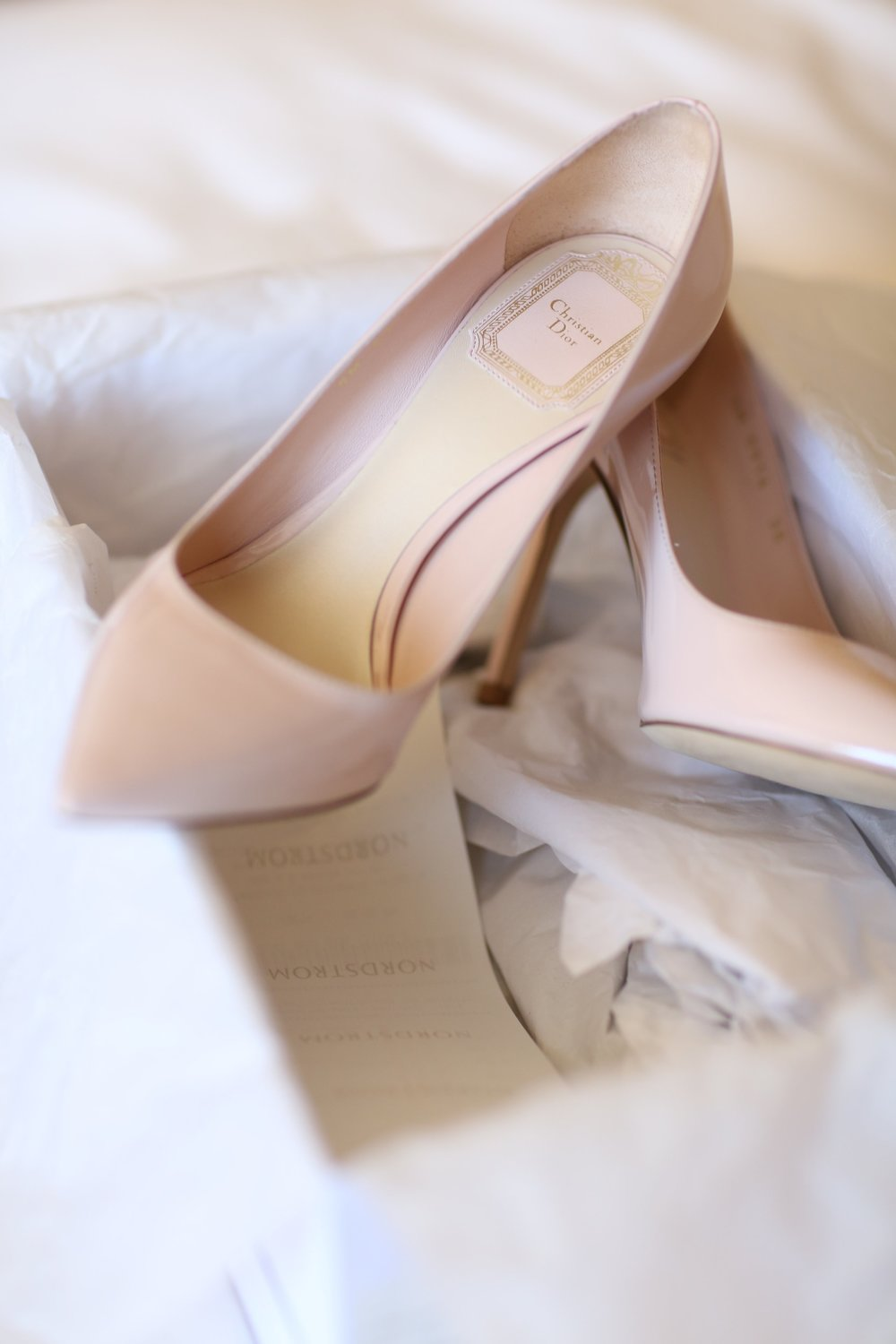 light pink bridal heels