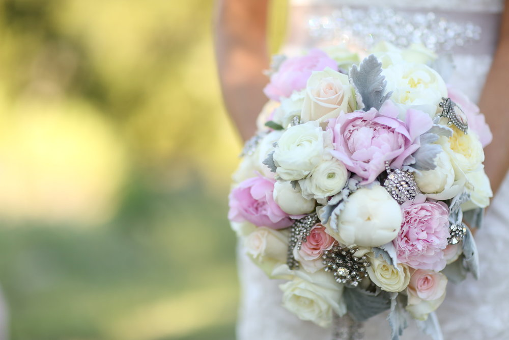 light pink bridal bouquet