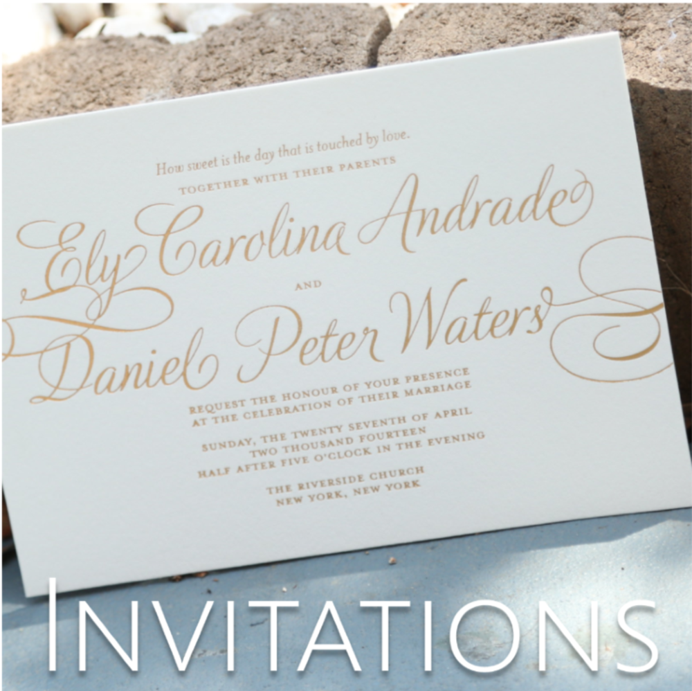wedding invitations and save the dates // the overwhelmed bride wedding blog