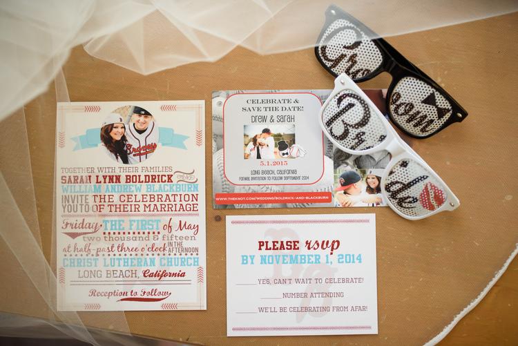 Featured Wedding // Sarah + Drew\'s Baseball Themed Wedding — The ...