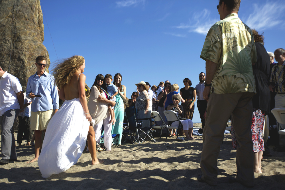 malibu beach wedding ceremony