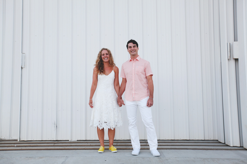 van nuys airport hangar wedding