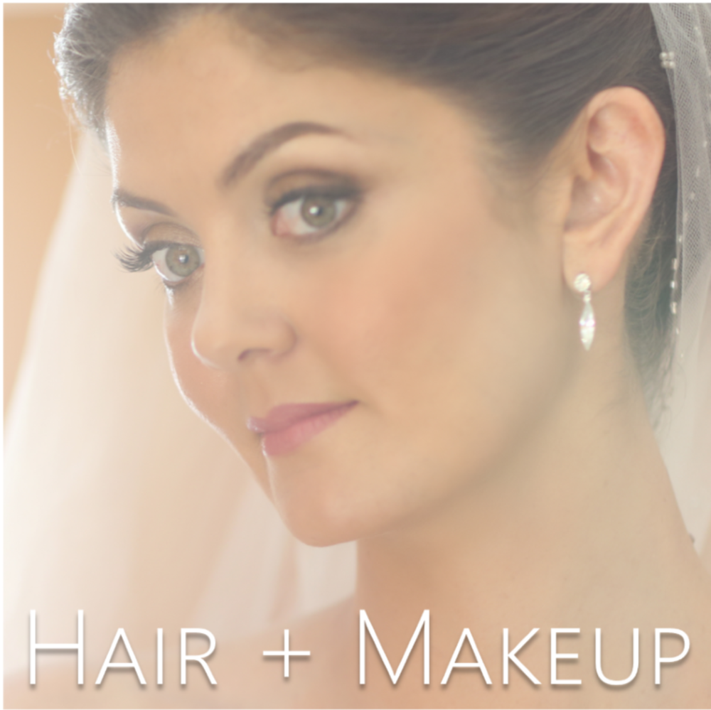 bridal hairstyles + Bridal makeup // the overwhelmed bride wedding blog
