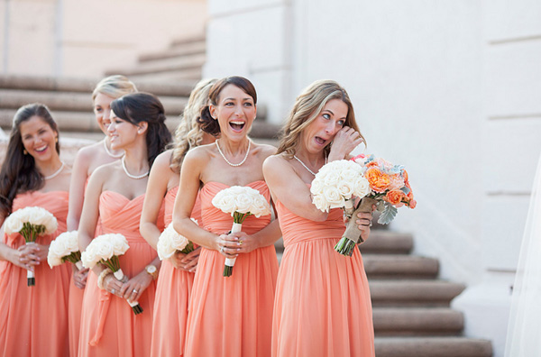 Peach wedding inspiration the overwhelmed bride wedding blog southern weddings junglespirit Images