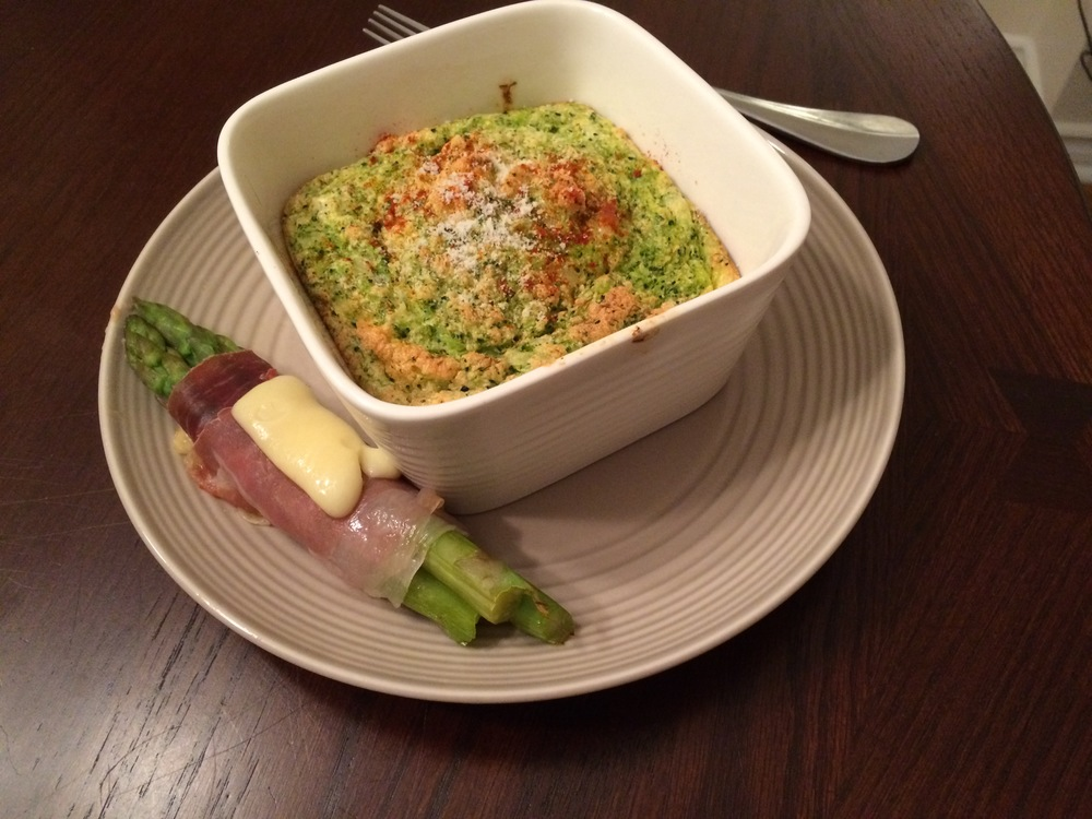 Broccoli, Herb, and Cheese Souffle Recipe