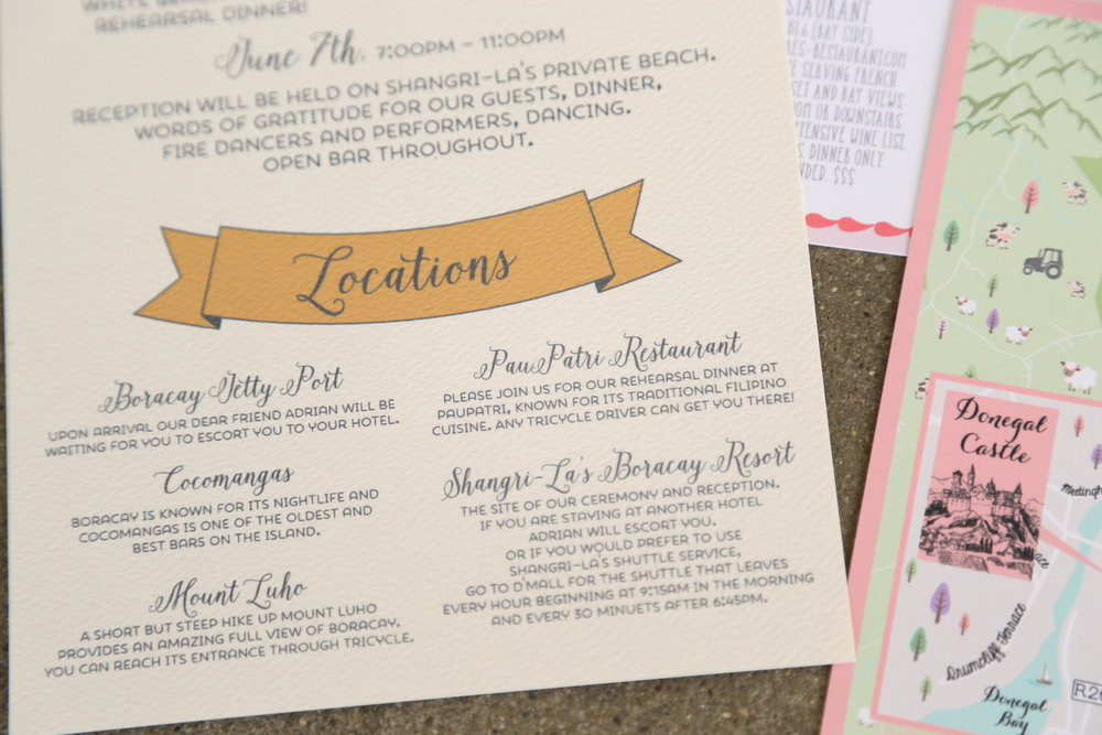 Custom Wedding Maps