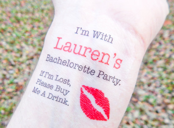 bachelorette party wrist tattoos