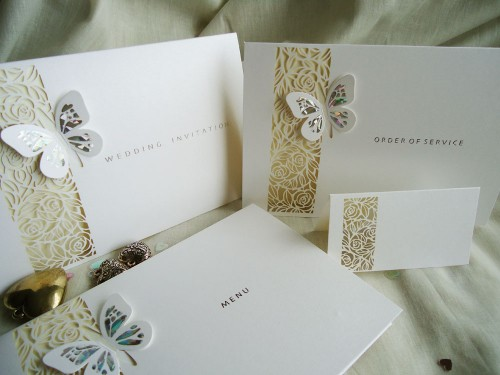 Butterfly themed wedding invitations uk only