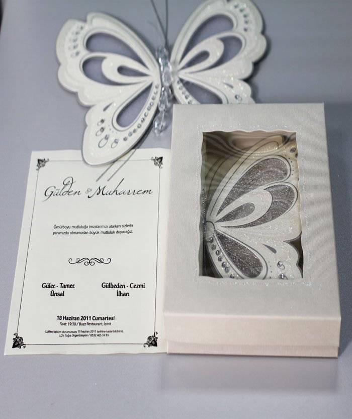 Packs of butterfly wedding invitations Wedding celebration blog – Butterfly Wedding Invite