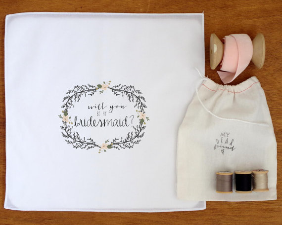 handkerchief bridesmaid proposal