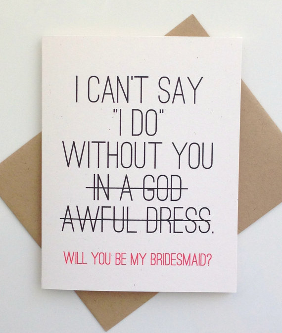 funny card bridesmaid proposal