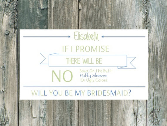 funny card bridesaid proposal
