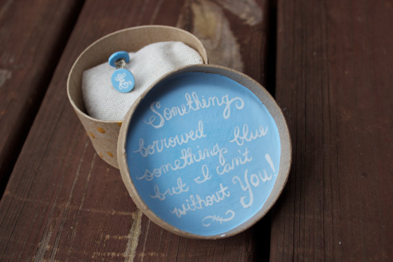 something blue earring bridesmaid proposal