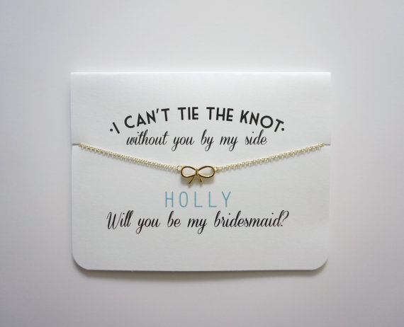 necklace bridesmaid proposal