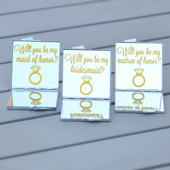 pocket mirror bridesmaid proposal