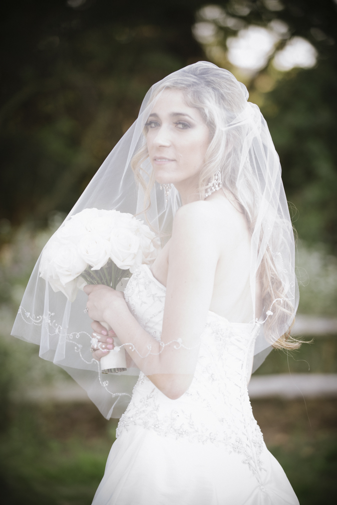 bride veil portrait