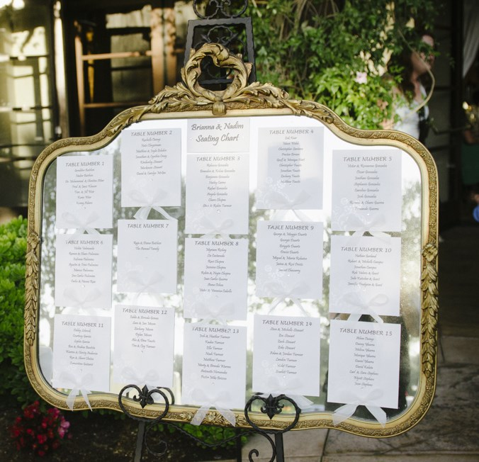 vintage mirror seating chart