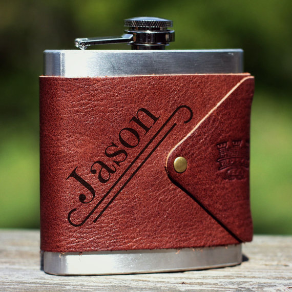 Groomsman Gift Personalized Leather Flask.jpg