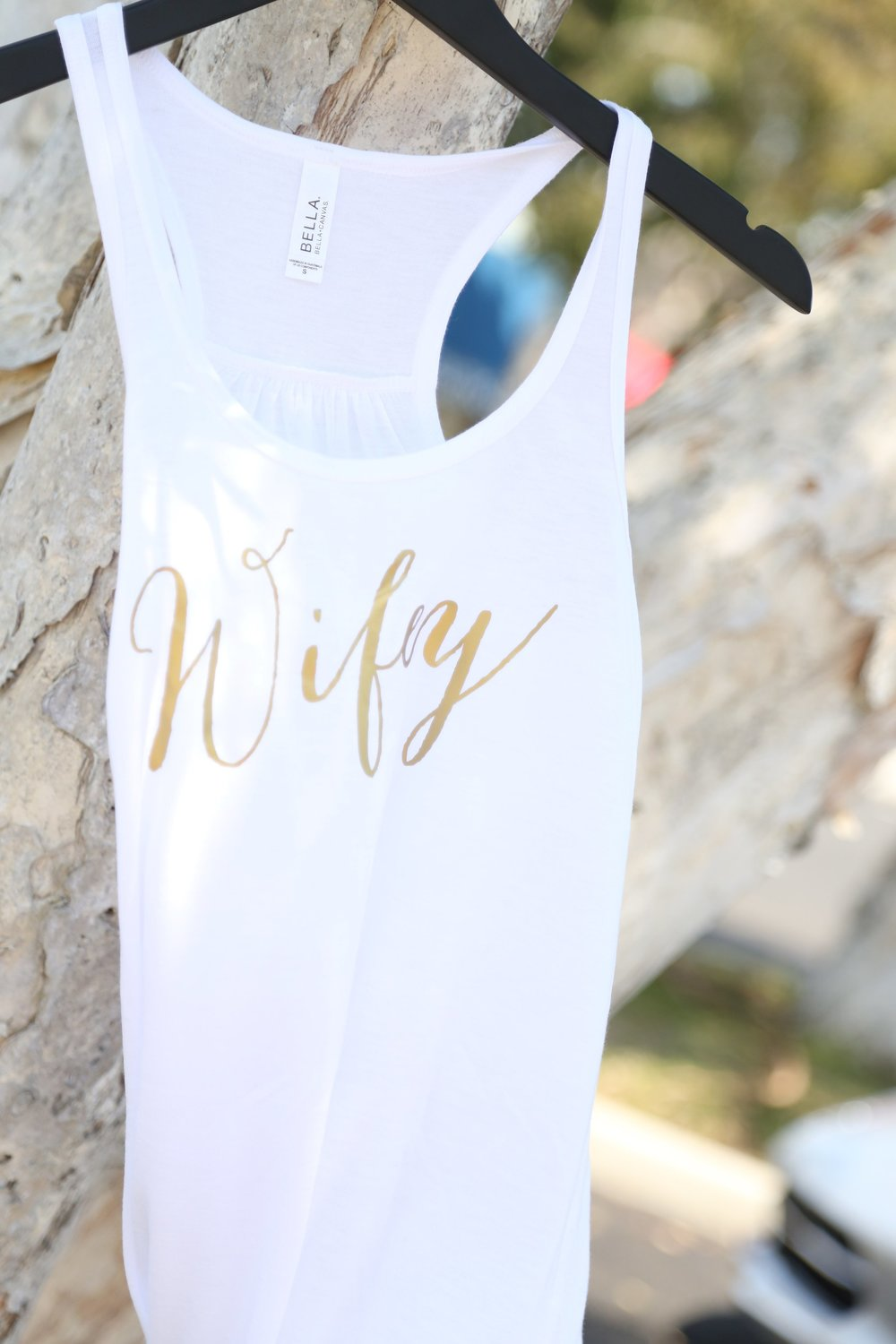 wifey tank by keep life simple design