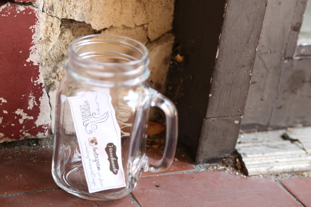 bridesmaid mason jar mugs