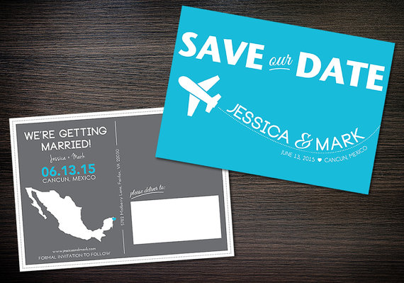 destination wedding save the date cards // unique save the dates