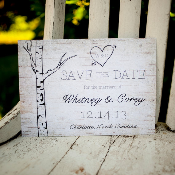 rustic wood save the date unique save the dates