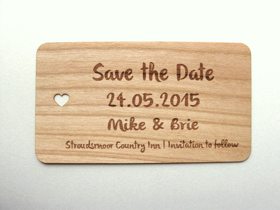 wooden save the date cards // unique save the dates